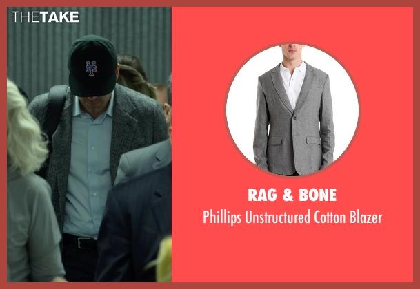Rag & Bone gray blazer from Gone Girl seen with Ben Affleck (Nick Dunne)