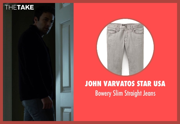 John Varvatos Star USA gray jeans from Gone Girl seen with Ben Affleck (Nick Dunne)