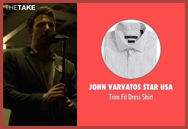 John Varvatos Star USA gray shirt from Gone Girl seen with Ben Affleck (Nick Dunne)
