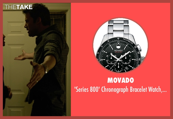 Movado silver 42mm from Gone Girl seen with Ben Affleck (Nick Dunne)