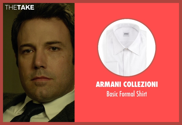 Armani Collezioni white shirt from Gone Girl seen with Ben Affleck (Nick Dunne)