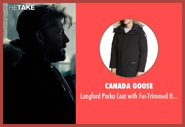Canada Goose black hood from Justice League seen with Ben Affleck (Bruce Wayne / Batman)