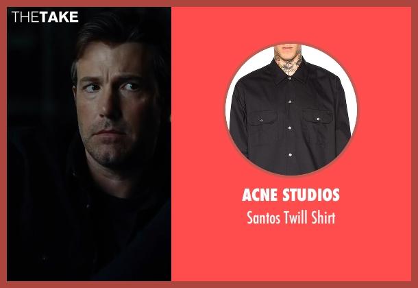Acne Studios black shirt from Justice League seen with Ben Affleck (Bruce Wayne / Batman)