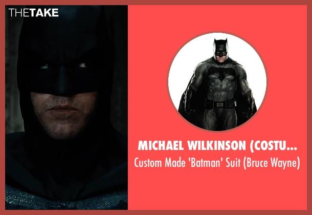 Michael Wilkinson (Costume Designer) suit from Justice League seen with Ben Affleck (Bruce Wayne / Batman)