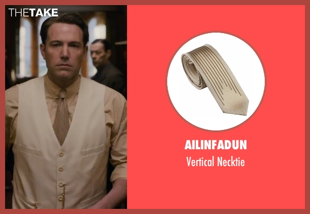 Ailinfadun beige necktie from Live By Night seen with Ben Affleck (Joe Coughlin)