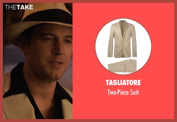 Tagliatore beige suit from Live By Night seen with Ben Affleck (Joe Coughlin)
