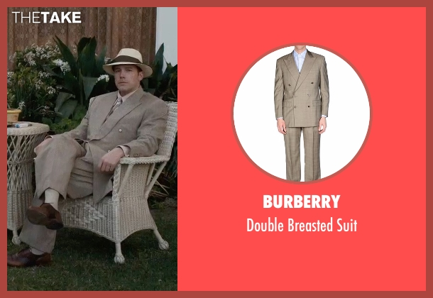 Burberry beige suit from Live By Night seen with Ben Affleck (Joe Coughlin)