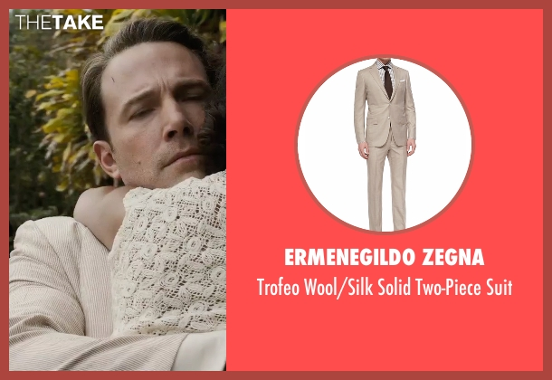 Ermenegildo Zegna beige suit from Live By Night seen with Ben Affleck (Joe Coughlin)