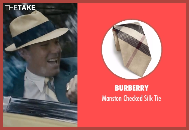 Burberry  beige tie from Live By Night seen with Ben Affleck (Joe Coughlin)
