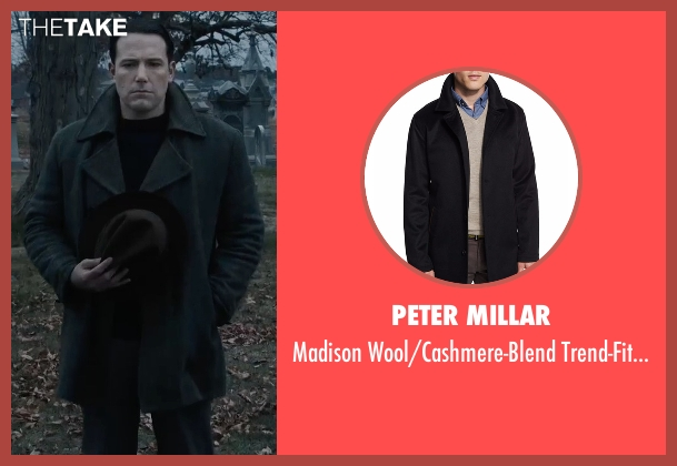 Peter Millar black coat from Live By Night seen with Ben Affleck (Joe Coughlin)