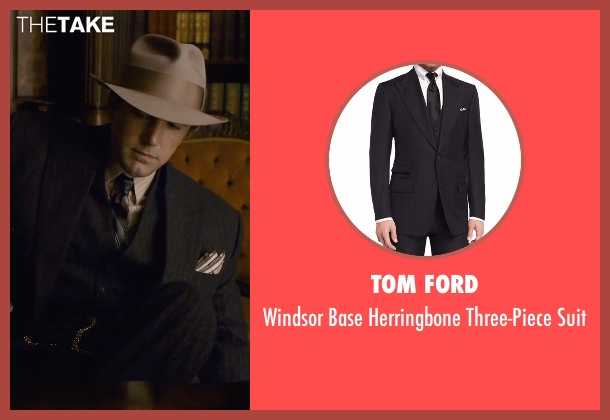 Tom Ford black suit from Live By Night seen with Ben Affleck (Joe Coughlin)