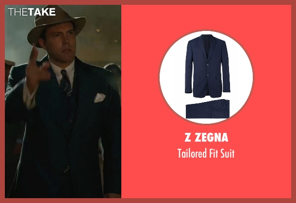 Z Zegna blue suit from Live By Night seen with Ben Affleck (Joe Coughlin)