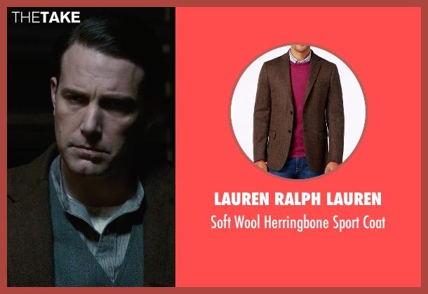 Lauren Ralph Lauren brown coat from Live By Night seen with Ben Affleck (Joe Coughlin)