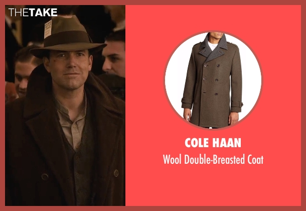 Cole Haan brown coat from Live By Night seen with Ben Affleck (Joe Coughlin)