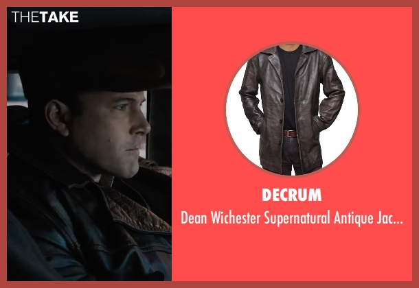 Decrum brown jacket from Live By Night seen with Ben Affleck (Joe Coughlin)