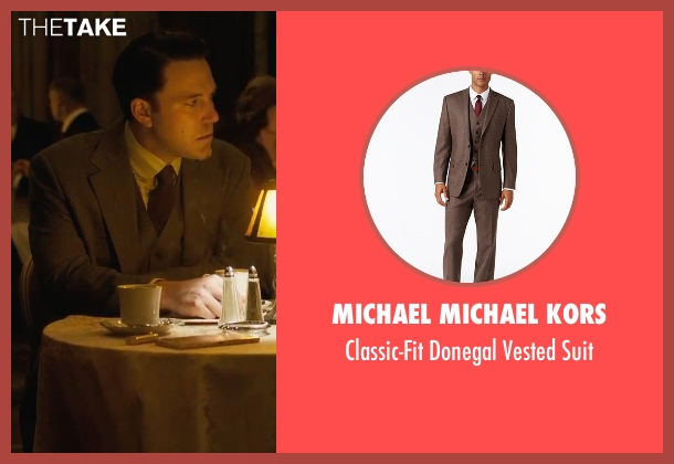 Michael Michael Kors brown suit from Live By Night seen with Ben Affleck (Joe Coughlin)