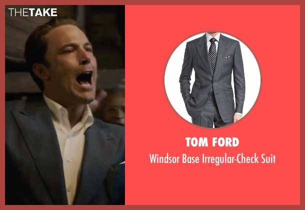 Tom Ford gray suit from Live By Night seen with Ben Affleck (Joe Coughlin)
