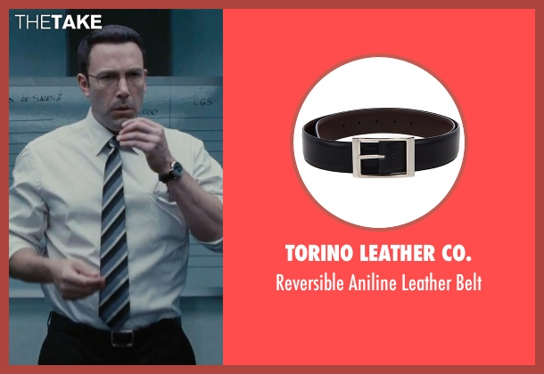 Torino Leather Co. black belt from The Accountant seen with Ben Affleck (Christian Wolff)