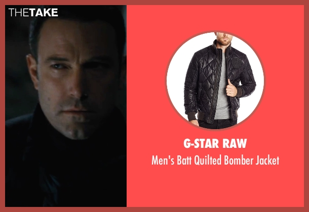 G-Star Raw black jacket from The Accountant seen with Ben Affleck (Christian Wolff)