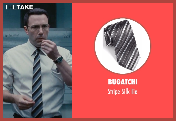 Bugatchi black tie from The Accountant seen with Ben Affleck (Christian Wolff)