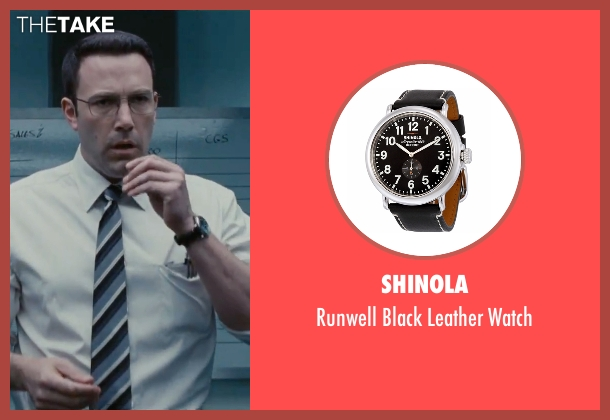 Shinola black watch from The Accountant seen with Ben Affleck (Christian Wolff)