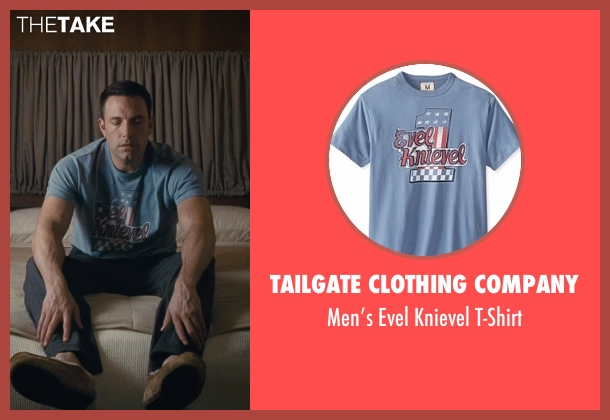 Tailgate Clothing Company blue t-shirt from The Accountant seen with Ben Affleck (Christian Wolff)