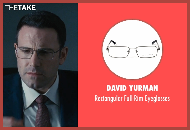 David Yurman eyeglasses from The Accountant seen with Ben Affleck (Christian Wolff)