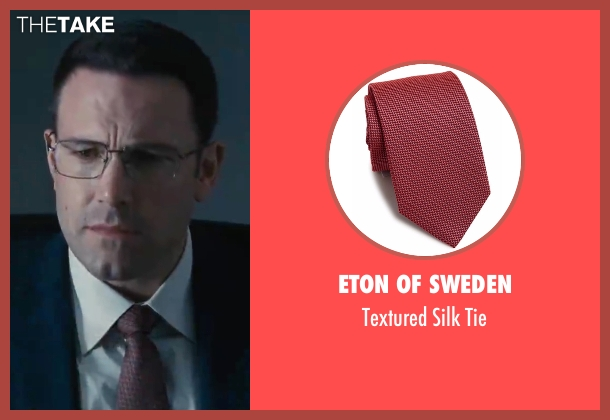 Eton of Sweden red tie from The Accountant seen with Ben Affleck (Christian Wolff)