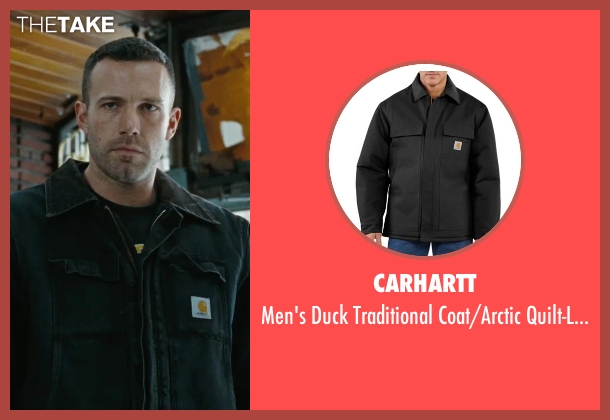 Carhartt black quilt-lined from The Town seen with Ben Affleck (Doug MacRay)