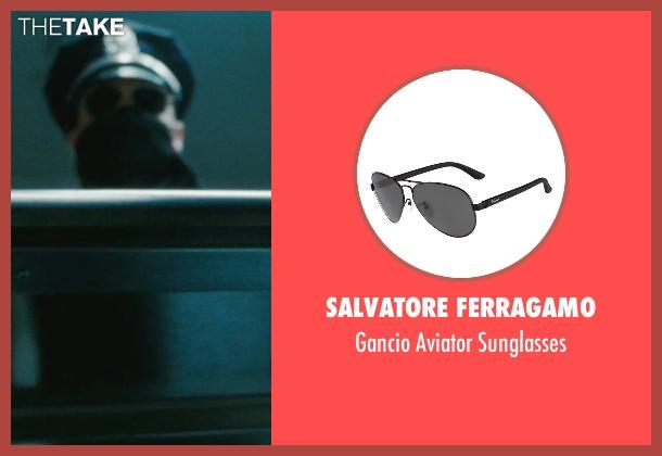 Salvatore Ferragamo black sunglasses from The Town seen with Ben Affleck (Doug MacRay)