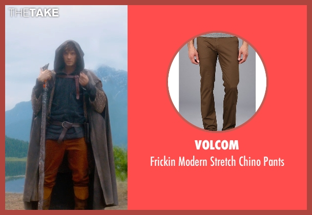 Volcom brown pants from Seventh Son seen with Ben Barnes (Tom Ward)