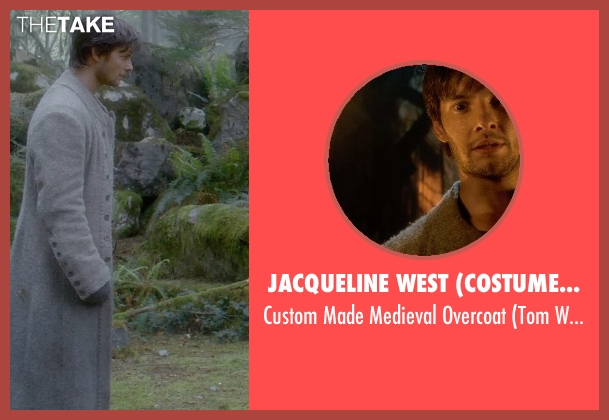Jacqueline West (Costume Designer) gray overcoat from Seventh Son seen with Ben Barnes (Tom Ward)