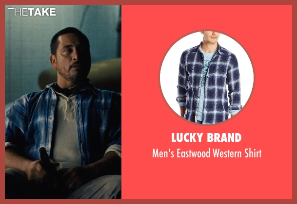 Lucky Brand blue shirt from McFarland, USA seen with Ben Bray (Ernesto Valles)