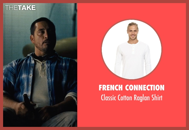 French Connection white shirt from McFarland, USA seen with Ben Bray (Ernesto Valles)