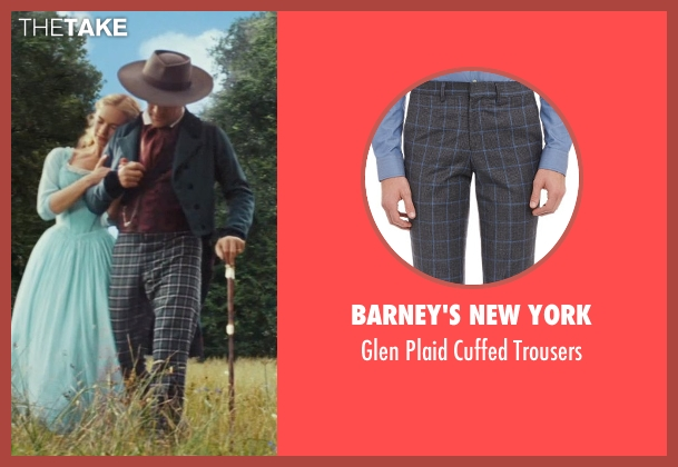 Barney's New York black trousers from Cinderella seen with Ben Chaplin (Cinderella's Father)