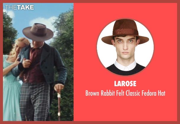 Larose brown hat from Cinderella seen with Ben Chaplin (Cinderella's Father)
