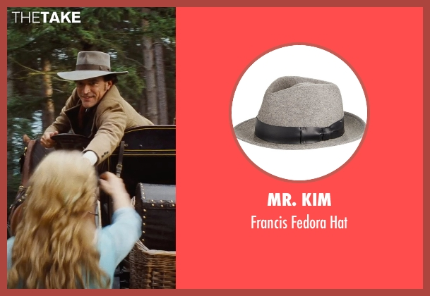 Mr. Kim gray hat from Cinderella seen with Ben Chaplin (Cinderella's Father)