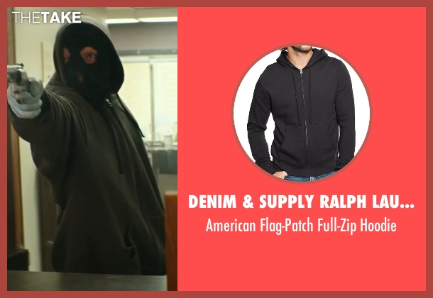 Denim & Supply Ralph Lauren black hoodie from Hell or High Water seen with Ben Foster (Tanner)