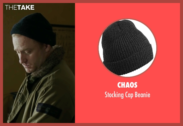 Chaos black beanie from The Finest Hours seen with Ben Foster (Richard Livesey)
