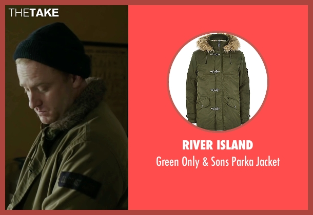 River Island green jacket from The Finest Hours seen with Ben Foster (Richard Livesey)