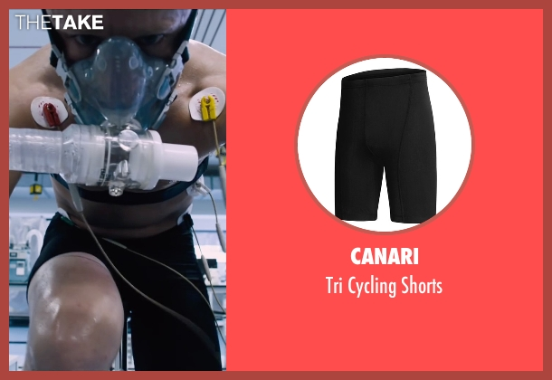 Canari black shorts from The Program seen with Ben Foster (Lance Armstrong)