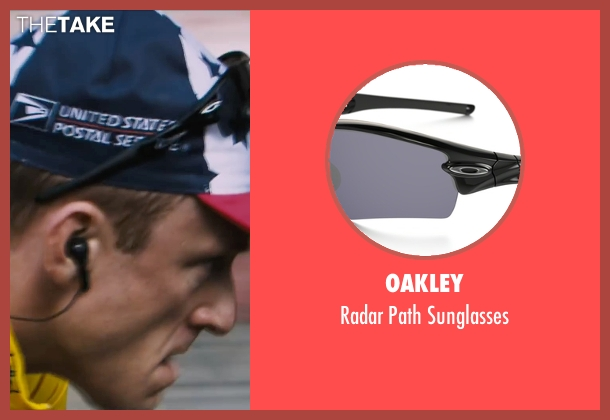 Oakley black sunglasses from The Program seen with Ben Foster (Lance Armstrong)