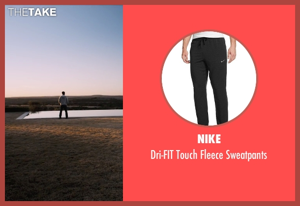 Nike black sweatpants from The Program seen with Ben Foster (Lance Armstrong)