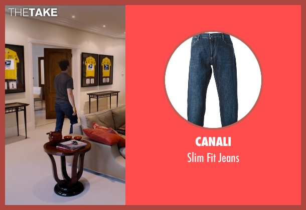 Canali blue jeans from The Program seen with Ben Foster (Lance Armstrong)