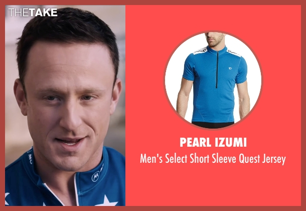 Pearl Izumi blue jersey from The Program seen with Ben Foster (Lance Armstrong)