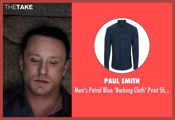 Paul Smith blue shirt from The Program seen with Ben Foster (Lance Armstrong)