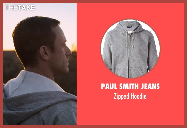 Paul Smith Jeans gray hoodie from The Program seen with Ben Foster (Lance Armstrong)