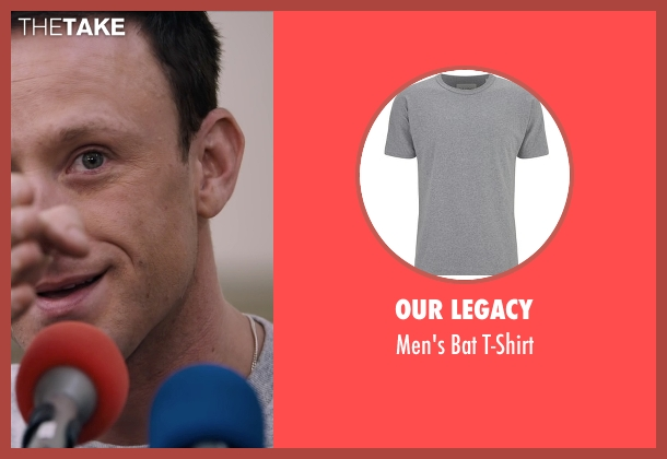 Our Legacy gray t-shirt from The Program seen with Ben Foster (Lance Armstrong)