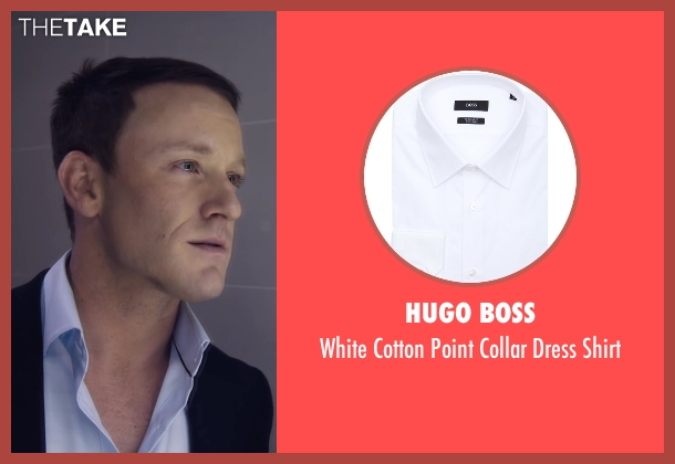 Hugo Boss white shirt from The Program seen with Ben Foster (Lance Armstrong)
