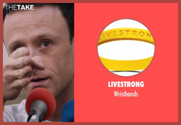 Livestrong yellow wristbands from The Program seen with Ben Foster (Lance Armstrong)